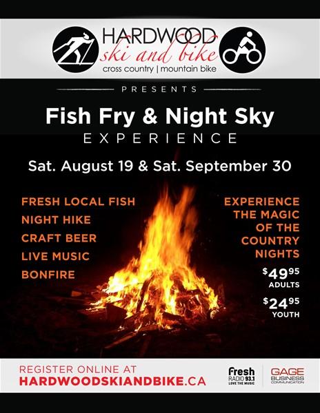 Fish Fry & Night Sky @ Hardwood Ski & Bike